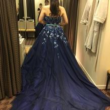 前撮りカラードレス