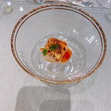 炙り紋甲烏賊の柚子味噌風味