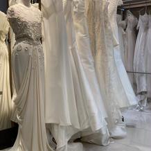 ドレスの展示