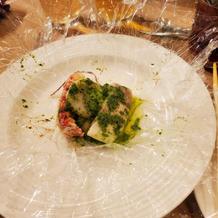 オマール海老と真鯛 ホタテのカルトッチョ