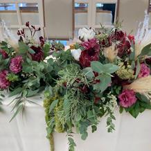 メインテーブルの装花です
