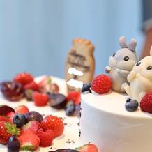 大事なうさぎさんをモチーフにしたケーキ