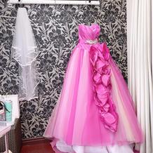 ベールもカラードレス
