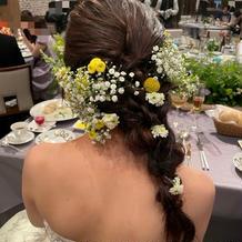 カラードレス時のヘアメイク(生花)