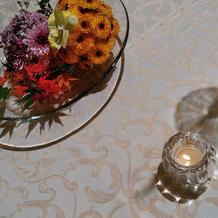 各卓上の花です。
