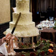 ウェディングケーキはイミテーション