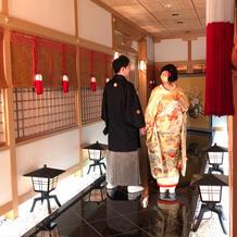和装で使用した神殿