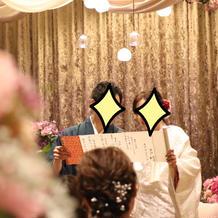 和装に合わせて結婚宣誓書を巻物で用意