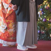 12/21のため館内にクリスマスツリー