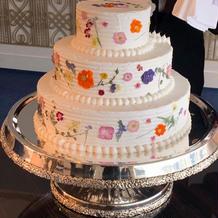 押し花ケーキ