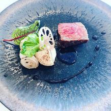 メインの満天和牛のステーキ