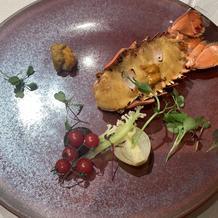 オマール海老が美味しかったです。