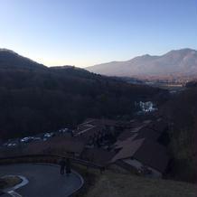 敷地内の1番上からの眺め。