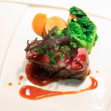 カドワキ牛のステーキ