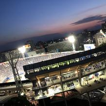式場の屋上から見えた横浜スタジアム