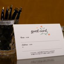 芳名帳はやめてゲストカードを使用!