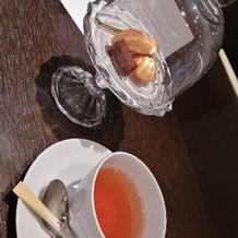 説明会で出していただいたお菓子と紅茶