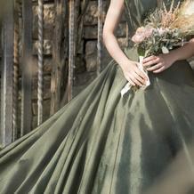 前撮りのドレスです♪
