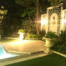 ニューヨーク邸のプール