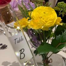 円卓のお花