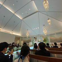 挙式会場天井