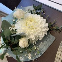 花束をプレゼントされました