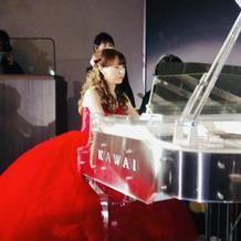 披露宴でのピアノ
