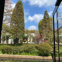 窓から見える庭園も素敵