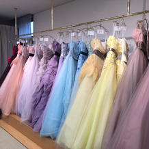 種類が、たくさんの衣装