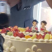 ウェディングケーキ 結婚式当日