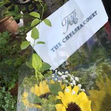 装花 ゲストに持ち帰り用で手渡した物