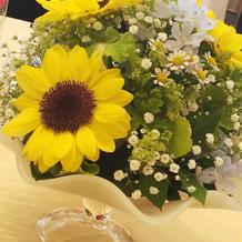 装花 結婚式当日