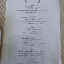 試食会メニュー表
