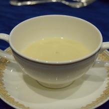 オニオンのクリームスープです。