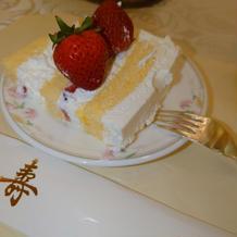 ケーキのクリームもさっぱりしていて好評