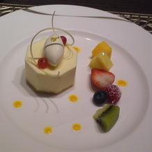 デザート(レモンムース)