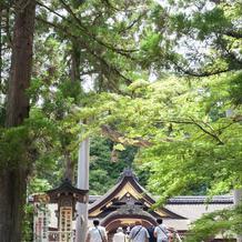 緑が写真に映える階段からの景色