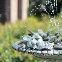 ガゼボ前の噴水。別名「小鳥の館』
