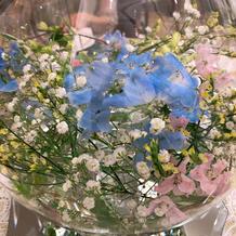 ゲストテーブルの装花です。