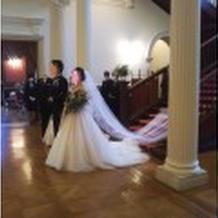 模擬結婚式が行われていました。
