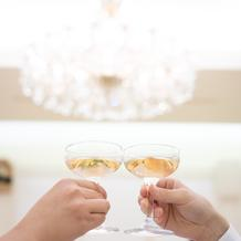 乾杯のノンアルシャンパン