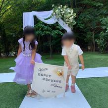 姪甥に挙式時にフラッグキッズを頼みました