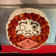 だるまケーキ(目入れしました)
