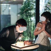 新郎誕生日ケーキ
