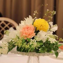 ゲスト卓の花