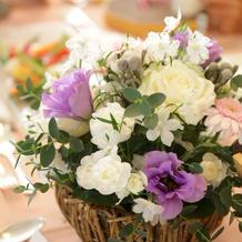 お花の好みや色を選べます