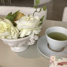 見学時にお茶を頂きました