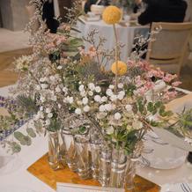 各卓テーブル装花