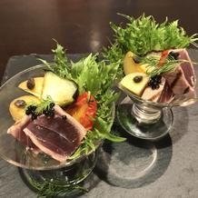 前菜静岡県の食材を使っていました。