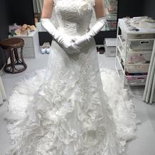 このマーメイドドレスめっちゃ可愛かった